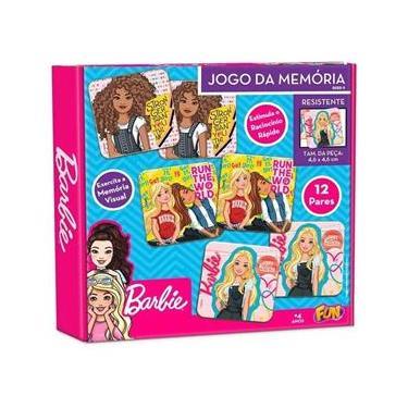 Imagem de Barbie Jogo da Memoria 12 Pares Fun - F0047-9