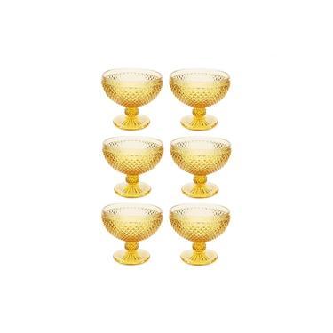 Conjunto com 6 Taças para Champagne Ambar 300Ml Bon Gourmet