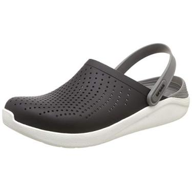 Sandália, Crocs, Literide, Black/Smoke, 39, Adulto Unissex
