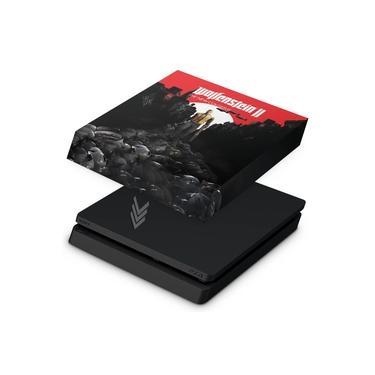Capa Anti Poeira para PS4 Slim - Wolfenstein 2 New Order