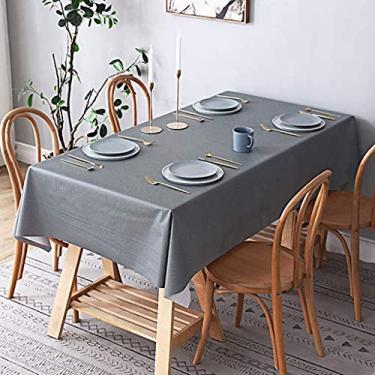 Imagem de Toalha de mesa para mesa de piquenique externa 140 x 140 cm, toalha de mesa de microfibra à prova de derramamento de óleo e resistente à água, capa de mesa de tecido decorativo para festa de