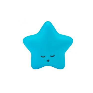 Abajur Luminaria Bebê Infantil Estrela Azul Com Fio e Adesivo