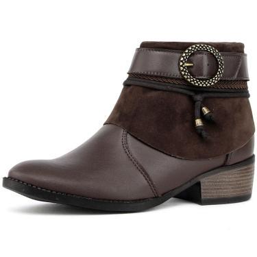 Bota Elegancy Ankle Bootbrides Café  feminino