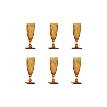 Conjunto 6 peças Taça para champagne De Vidro Sodo-cálcico Bico De Jaca 170ml Bon Gourmet