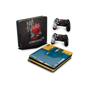 Skin Adesivo para PS4 Slim - Cyberpunk 2077 Bundle