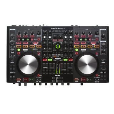Denon DJ MC6000 MK2 Controladora de DJ profissional e Mixer 4 Canais digital c/ Serato DJ Lite
