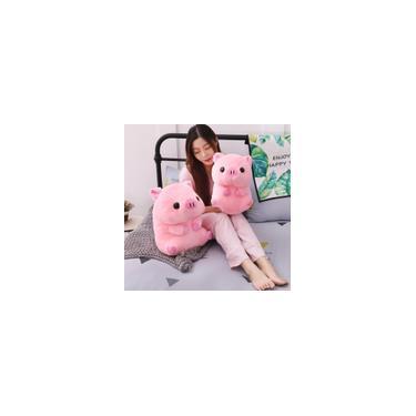 Imagem de 40 cm Rosa Sentado Porco Cabeça Grande Porquinho Boneca de Pelúcia Crianças Animais Brinquedo de Pelúcia Crianças Dormindo Companheiro Apaziguador de Pelúcia