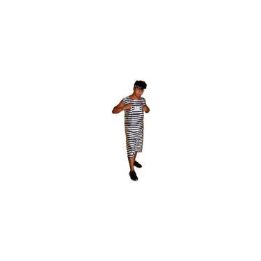 Imagem de Fantasia presidiário 171 conjunto com lenço