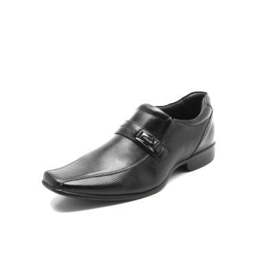 afcb787aa Sapato Social Couro Rafarillo Texturizado Preto Rafarillo 34004-00P  masculino