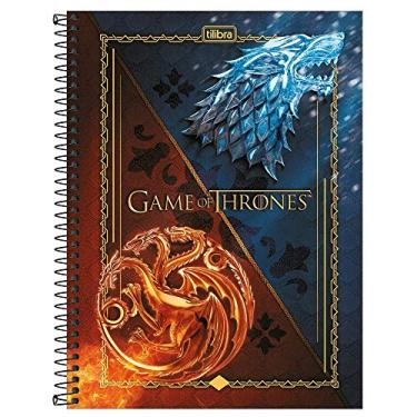 CADERNO ESPIRAL UNIV. 10M 160FLS. C.D. GAME OF THRONES TILIBRA