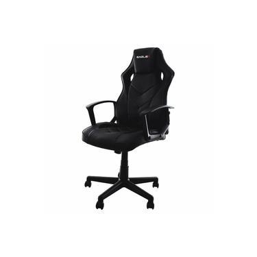 Cadeira Gamer Escritório EagleX S1 Reclinável Com Ajuste de Altura e Modo Balanço - Preto