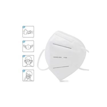 Mascara KN95 Kit 5 uni. Reutilizável Proteção Profissional Respiratoria PFF2 Respirador EPI