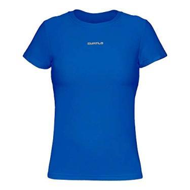 Camiseta Active Fresh Mc - Feminino Curtlo PP Azul