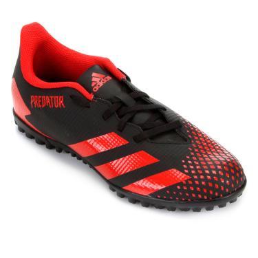 Imagem de Chuteira Society Adidas Predator 20 4 Tf - Preto E Vermelho - 38