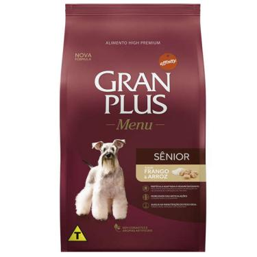 Ração Affinity PetCare Gran Plus Menu Sênior Frango e Arroz para Cães Idosos - 15 Kg