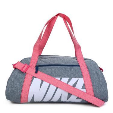 Bolsa Nike Gym Club Feminina BA5490-432, Cor: Cinza/Rosa, Tamanho: ÚNICO