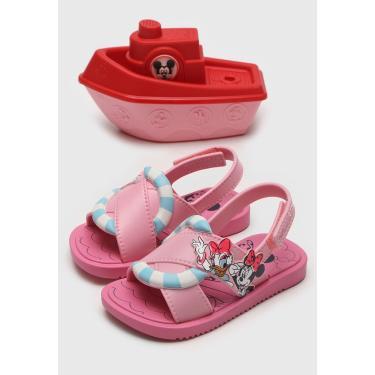 Sandália Grendene Kids Infantil Disney Minnie Shower Rosa Grendene Kids 22171 menina