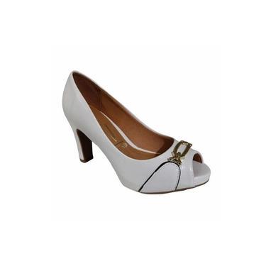 Sapato Peep Toe Vizzano Branco Off 1840.105