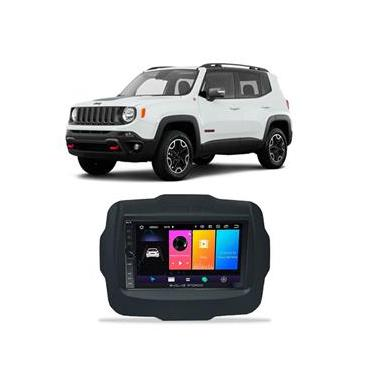 Central Multimídia Jeep Renegade 2015 a 2021 7 Polegadas Sistema Android Play Store BT USB