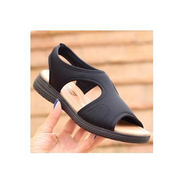 Sandalia Comfort Flex Preto Feminino 19-51404