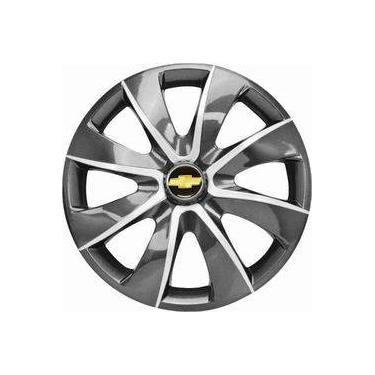Aro 13 Calota Graphite Silver Gm Celta Corsa Prisma Classic