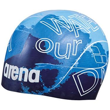 Arena Touca Poolish Moulded Dna, Azul