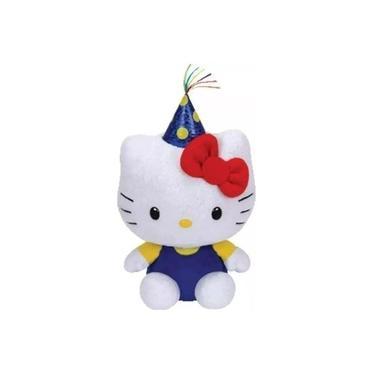 Imagem de Pelúcia Hello Kitty Festa Beanie Babies Dtc Ty Original