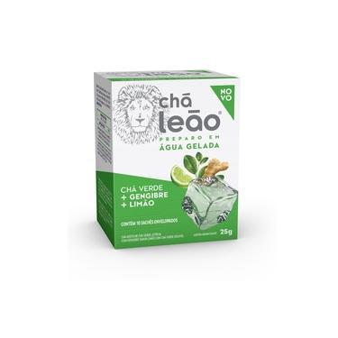 Imagem de Cha Cold Brew Cha Verde com Gengibre e Limao 25g CX 10 UN Leao