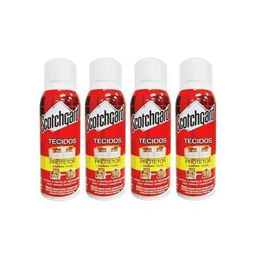 Kit 4 Impermeabilizante de Tecidos Scotchgard 3M Protetor Sofá Spray