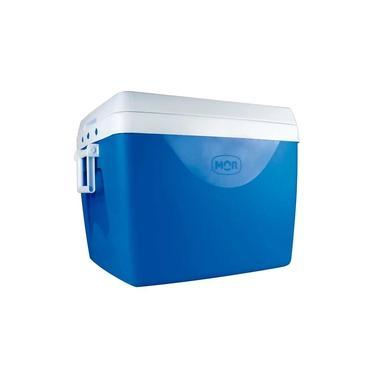 Imagem de Caixa Térmica com Divisória e Alças Laterais 75 Litros - Mor Azul