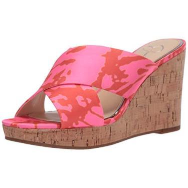 Jessica Simpson Sandália anabela feminina Seena, Neon Pink Combo, 12