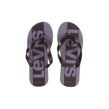 Chinelo Levis Logo Sportswear Preto