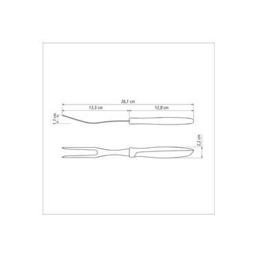 Garfo Trinchante Tramontina Plenus Com Lâmina Em Aço Inox e Cabo de Polipropileno Preto 23427100