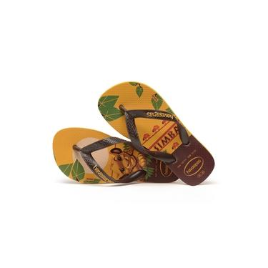 Chinelo Havaianas Infantil Kids Rei Leão Amarelo