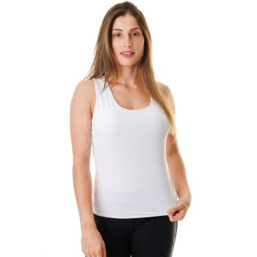 Regata Feminina Fitness Branca Horizon Poliamida E Elastano - Branco P Branco