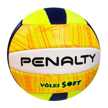 Bola Vôlei Penalty Costurada Soft Oficial 2 Un Laranja