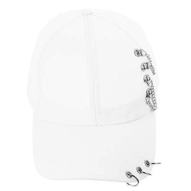 Sun verão boné de beisebol design pico tampão ajustável adultos sol chapéu (branco, 55-59cm)