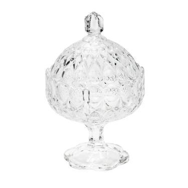Bomboniere com pé em cristal Wolff Angelica 15,5x23,6cm