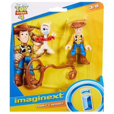 Brinquedo Boneco Toy Story 4 Forky e Woody Imaginext Gbg89