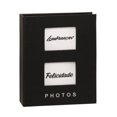 Classic Álbum 200 fotos 10x15 Capa Dura Janela Personalizável PRETO