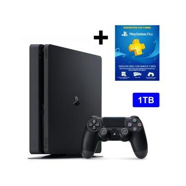 Console Playstation 4 SLIM 1TB + Assinatura 3 meses PS PLUS PS4 - Sony