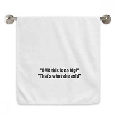 Imagem de DIYthinker Toalha de mão com citação de piada This is So Big Toalha de banho de algodão macio