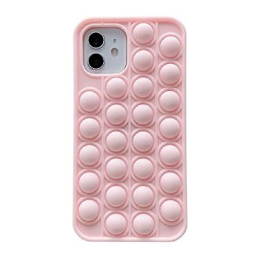 Imagem de Interesting Push Pop Fidget Case for iPhone 12 mini, Push Pop Bubble Fidget Sensory Case, Bubble Popper Anxiety Relief Autism Cover, Silicone Figetget Toy for ADD ADHD, Popping Fidget Novelty Gift