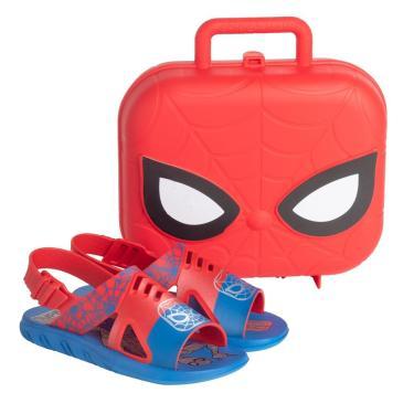 Imagem de Sandália Infantil Grendene Marvel Homem Aranha Hero Case Azul/Vermelho  masculino