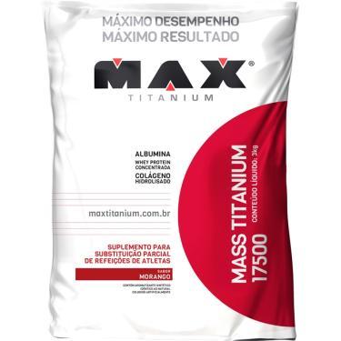 Mass Titanium 17500 Refil 3kg - Max Titanium - morango