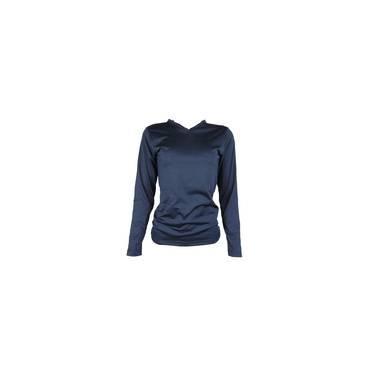 Blusa Térmica Feminina Segunda Pele Gola V Thermo Premium - Cor Azul Marinho 109faef6986a2