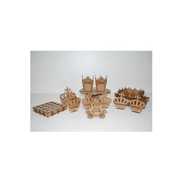 7f8b4e2c72 Kit Provençal Desmontado Coroa Realeza 14 Peças