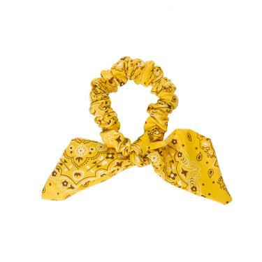 Laço de tecido único jarvy Amarelo