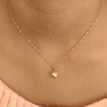 Colar Banhado Ouro Rommanel Pingente Coração Dupla Face 42 cm