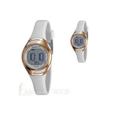 ba6150a5cdb Relógio Feminino Digital Pequeno Speedo Branco Dourado 80630LOEVNP3